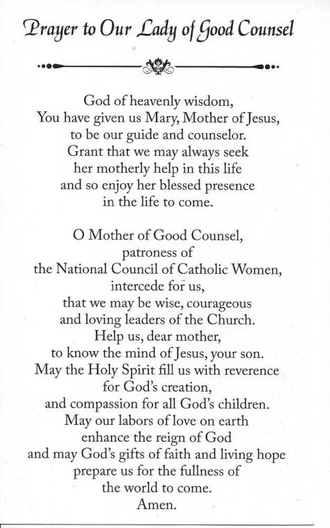 OLOGC Prayer NCCW